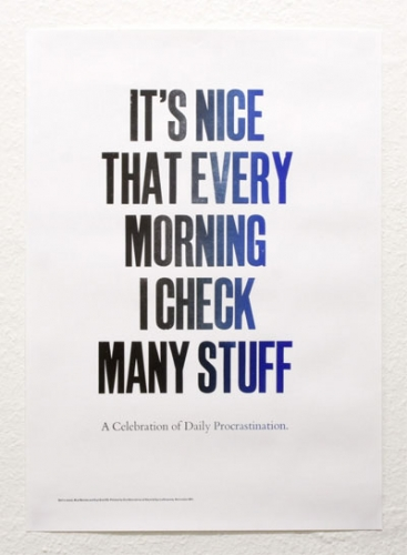 It's Nice That Every Morning…