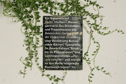 Interview at the Botanical Garden Heidelberg
