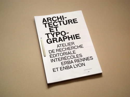 Architecture & Typographie II