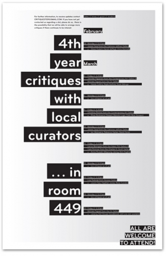 Critiques with local curators