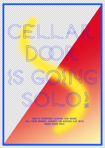 CELLAR DOOR IS GOING SOLO!