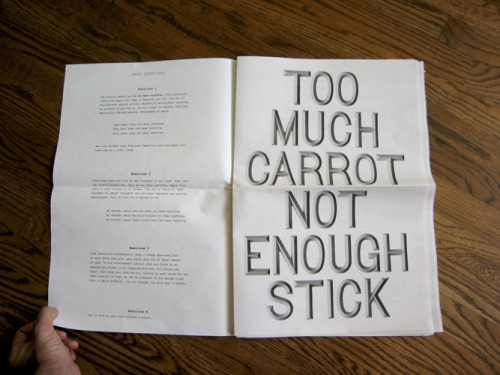 Too much carrot not enough stick