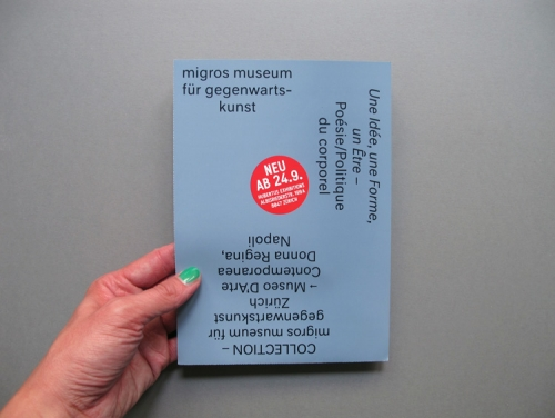 flyer for migros museum