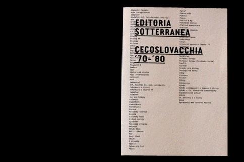 EDITORIA SOTTERRANEA