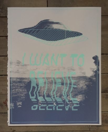 I WANT TO BELIEVE X-Files Screenprint