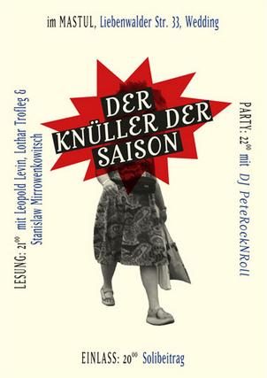 ›Der Knüller‹ Literaturmagazin Berlin