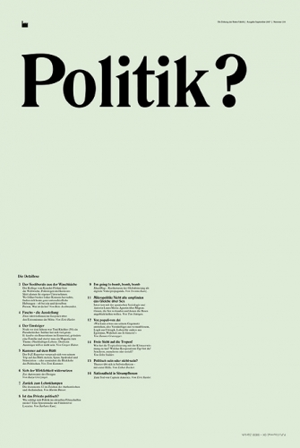 Politik? (Fabrikzeitung Nr. 240)