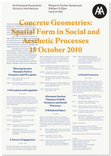 AA Lecture Posters 2010/11