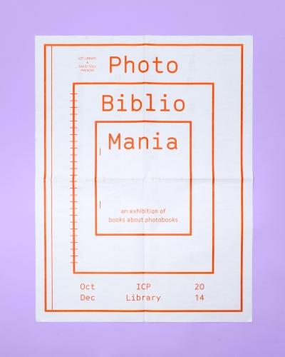ICP PhotoBiblioMania exhibition poster