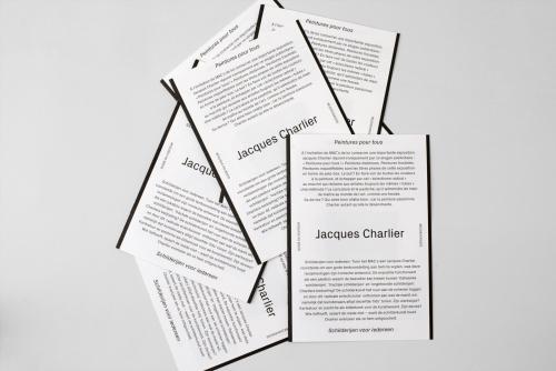 Jacques Charlier. Peintures pour tous