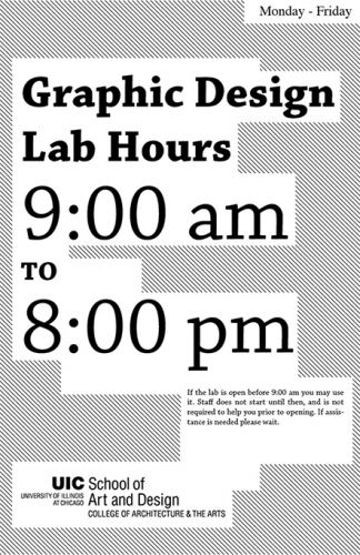 Graphic Design Lab Hours