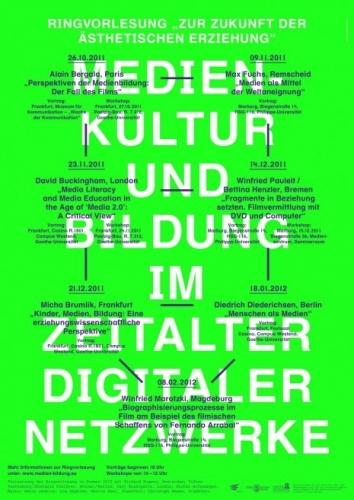 """Poster – Ringvorlesung """"zur Zukunft der ästhetisch"""