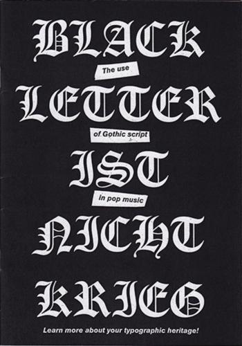 Blackletter typefaces
