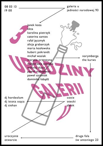3 URODZINY GALERII U