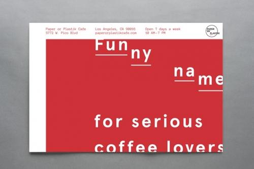 Paper or Plastik Cafe Breakfast Postcard
