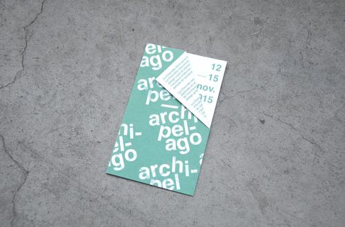 Archipel / Archipelago | Poster & fold