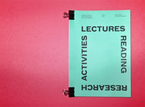 LECTURES – READING – RESEARCH – ACTIVITIES