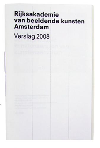 Rijksakademie annual report