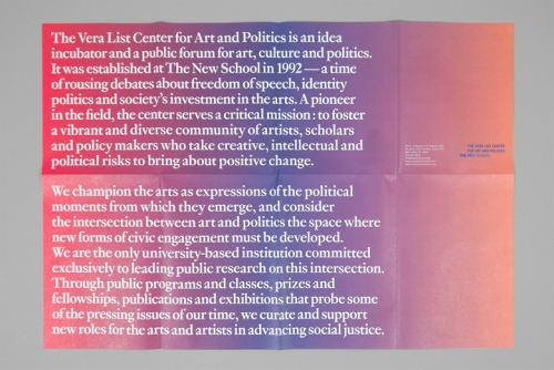 The Vera List Center for Art and Politics