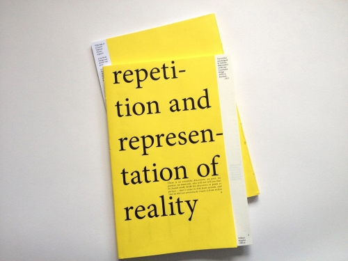 repetition and representation of reality