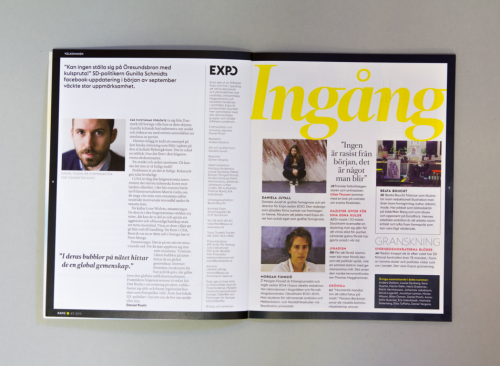 Expo magazine redesign