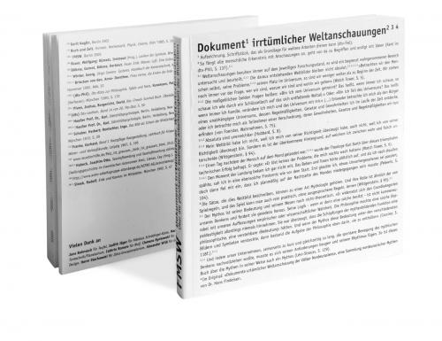 DOKUMENT IRRTÜRMLICHER WELTANSCHAUUNGEN