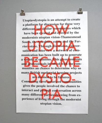 Utopia=Dystopia posters II