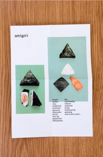 Infoflyer Onigiri-Imbiss Berlin
