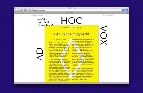 AD HOC VOX