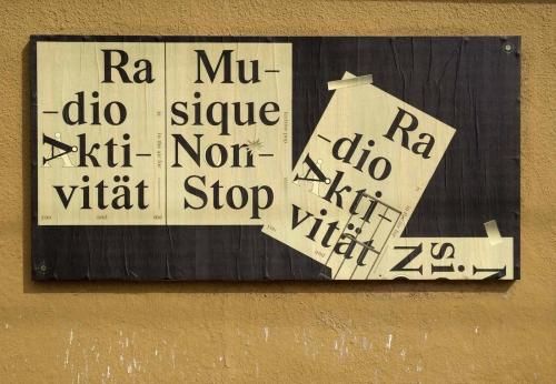 Musik Non-Stop (!) Poster for Ficciones Typografik