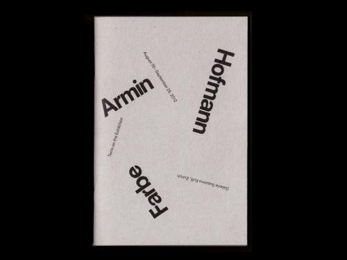 armin hofmann - farbe
