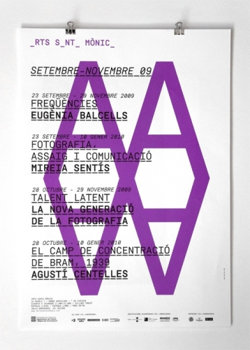 Identitat corporativa d'Arts Santa Mònica