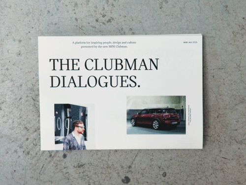 The Clubman Dialogues