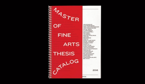 Master of Fine Arts Thesis Catalog