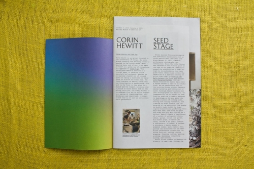 corin hewitt: seed stage