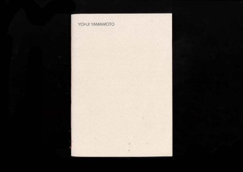Yohji Yamamoto Monograph