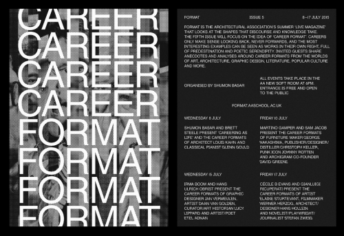 FORMAT Issue 5, Career Format