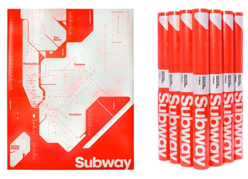ONE-COLOR NEW YORK SUBWAY MAP