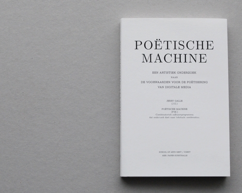Poëtische machine