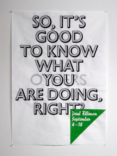 Paul Elliman Poster
