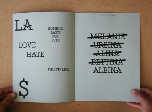 Albina / Typespecimen