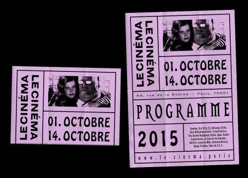 Le Cinéma, programme/poster bi-mensuel