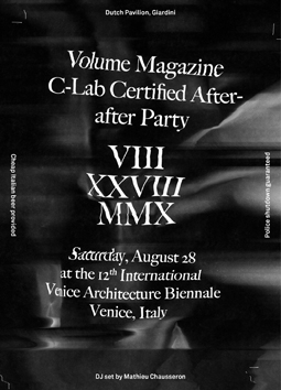 Volume Magazine C-Lab Certified After-after party