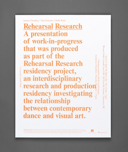 Rehearsal Research Poster