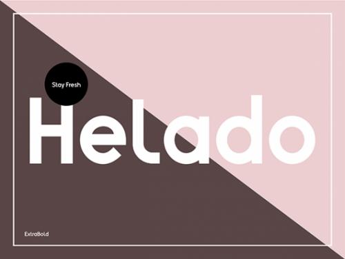 HELADO - Fontdesign