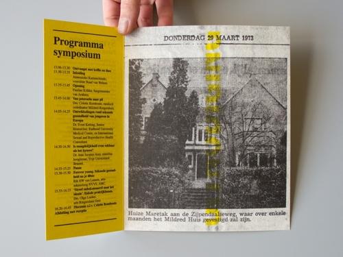 Invitation for symposium Mildred-Rutgershuis