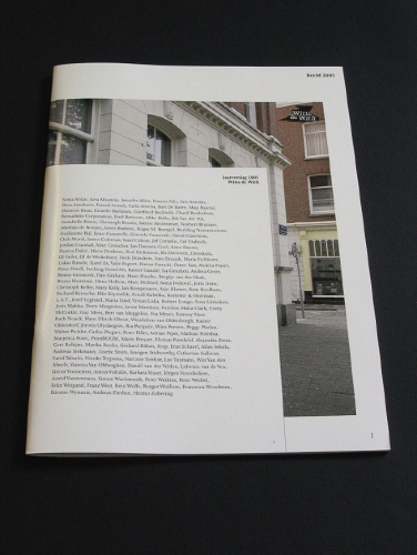 Witte de With - Annual Report
