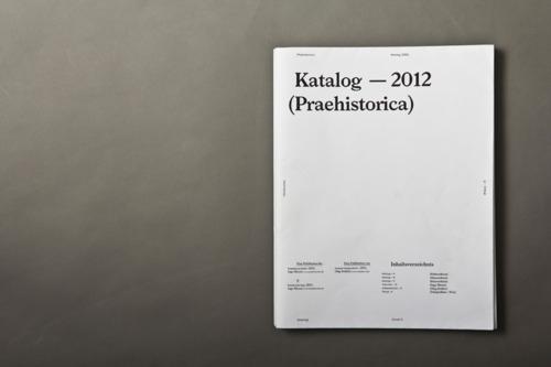 PRAEHISTORICA KATALOG 2012