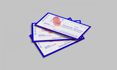 Limited Edition Personalised Business Cards