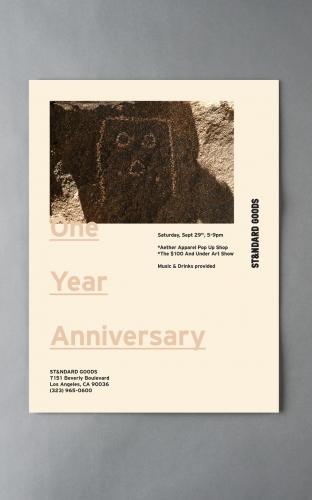 ST&NDARD GOODS One Year Anniversary
